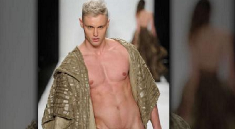 Male Model Takes His Birthday Suit For A Strut Down The Catwalk Nsfw